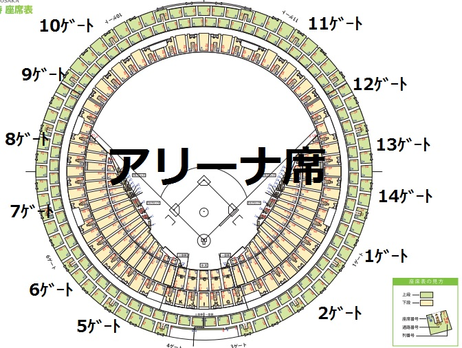京セラ ドーム 座席